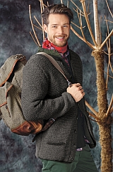 Herren Jacke Weste, gestrickt mit Wolle, Garn von Schoeller